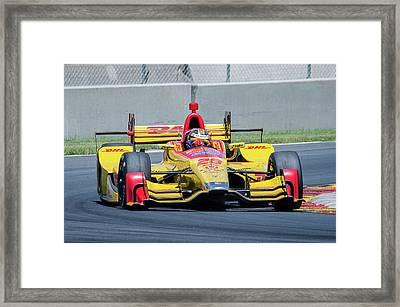 Ryan Hunter-reay Framed Print by Steven Banker