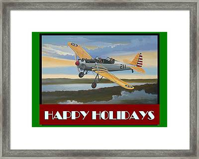 Ryan Pt-22 Happy Holidays Framed Print by Stuart Swartz