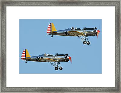 Ryan Pt-22 N48777 146 And Pt-22 N48742 269 Chino California April 29 2016 Framed Print by Brian Lockett