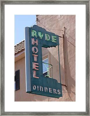 Ryde Hotel Sign Framed Print by Troy Montemayor