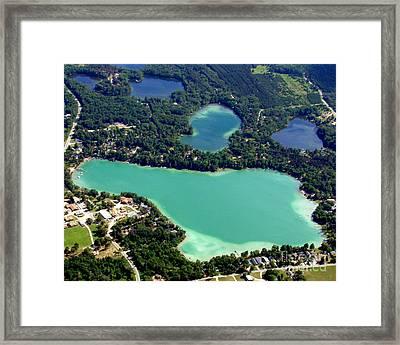 S-006 Spencer Lake Waupaca Wisconsin Framed Print