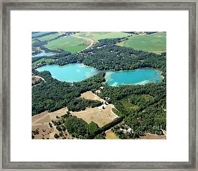 S-046 Stratton Lake 2 Waupaca County Wisconsin Framed Print