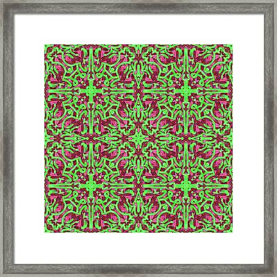 S A T - Multi Pattern Framed Print