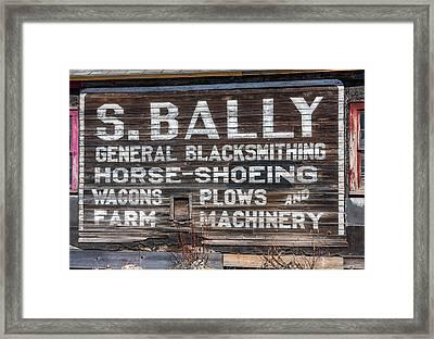 S Bally Ghost Sign Framed Print by Paul Freidlund
