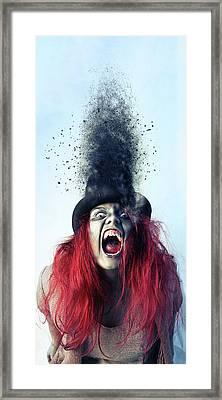 S C A R Y  Framed Print by Nichola Denny