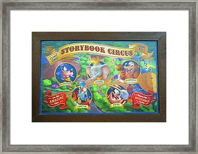 Storybook  Circus Add Framed Print by David Lee Thompson