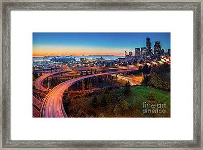 S For Seattle Framed Print