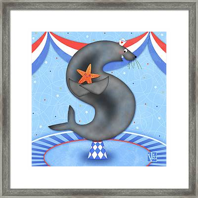 S Is For Seal And Starfish Framed Print