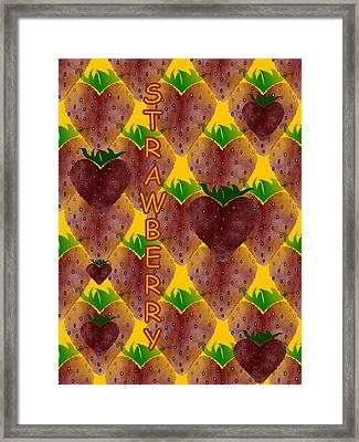 S Is For Strawberry Framed Print