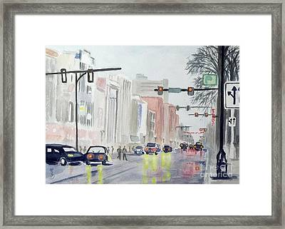 Framed Print featuring the painting S. Main Street In Ann Arbor Michigan by Yoshiko Mishina