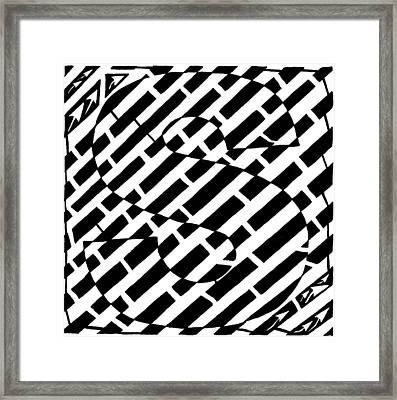 S Maze Framed Print by Yonatan Frimer Maze Artist