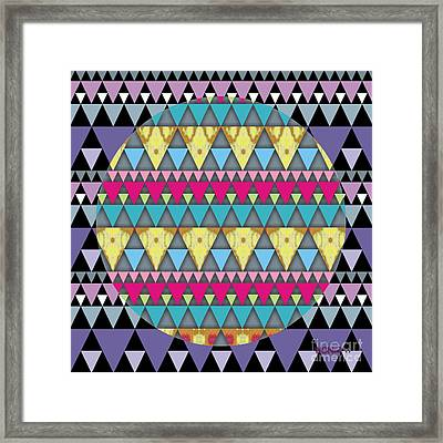 S-pyramids 1 Framed Print by Walter Oliver Neal