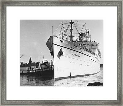 S S Lurline Framed Print