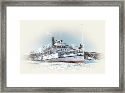 Framed Print featuring the photograph S. S. Sicamous II by John Poon