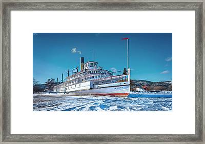Framed Print featuring the photograph S. S. Sicamous by John Poon