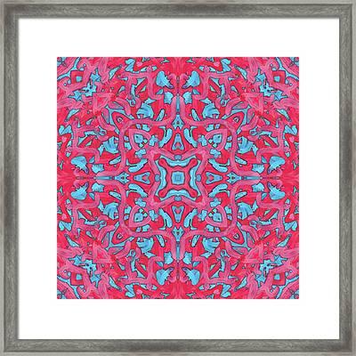S U N - Pattern Framed Print