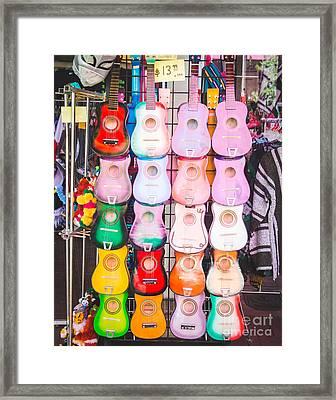 Sa Guitars Framed Print by Sonja Quintero