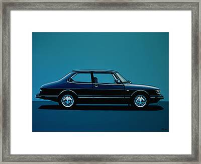 Saab 90 1985 Painting Framed Print by Paul Meijering