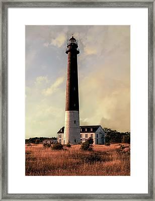 Saare Lighthouse On A Sunny Day Framed Print
