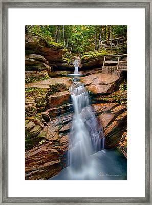 Sabbaday Falls 8896 Framed Print by Dan Beauvais