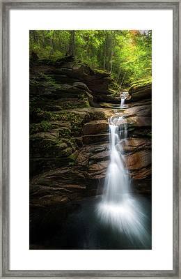 Sabbaday Falls Autumn Framed Print by Bill Wakeley