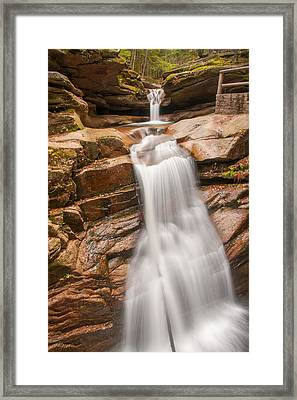 Sabbaday Falls Framed Print by Brenda Jacobs