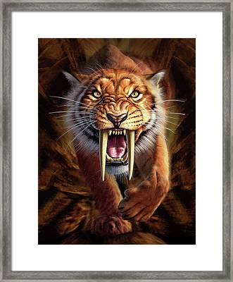 Sabertooth Framed Print by Jerry LoFaro