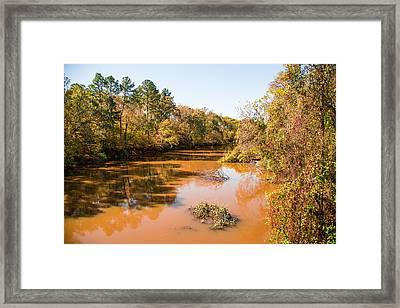Sabine River Near Big Sandy Texas Photograph Fine Art Print 4080 Framed Print by M K  Miller