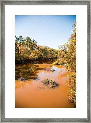 Sabine River Near Big Sandy Texas Photograph Fine Art Print 4082 Framed Print by M K  Miller