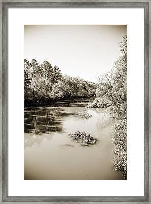 Sabine River Near Big Sandy Texas Photograph Fine Art Print 4083 Framed Print by M K  Miller