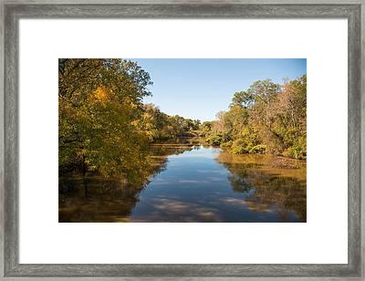 Sabine River Near Big Sandy Texas Photograph Fine Art Print 4087 Framed Print by M K  Miller