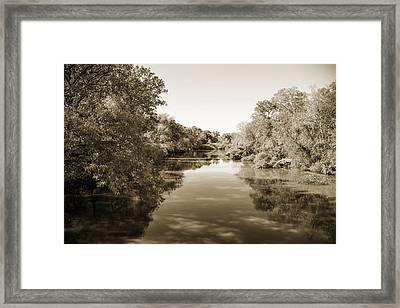 Sabine River Near Big Sandy Texas Photograph Fine Art Print 4089 Framed Print by M K  Miller