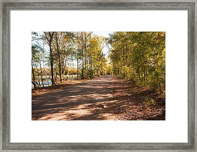 Sabine River Near Big Sandy Texas Photograph Fine Art Print 4105 Framed Print by M K  Miller