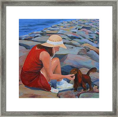 Sable And Me Framed Print