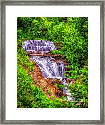 Framed Print featuring the photograph Sable Falls by Nick Zelinsky