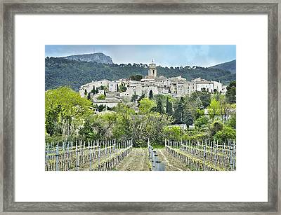 Sablet, Provence, France Framed Print