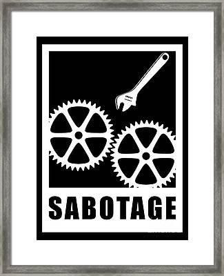 Sabotage Framed Print by Gaspar Avila