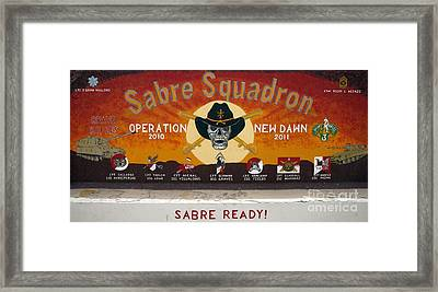 Sabre Squadron - Ond Framed Print by Unknown