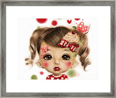 Sabrina - Elf  Framed Print by Sheena Pike