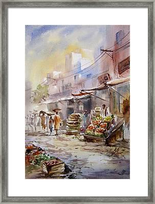Sabzi Mandi  Framed Print by MKazmi Syed