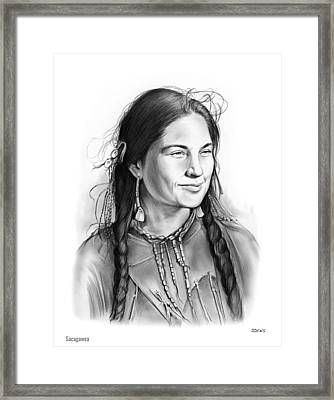 Sacagawea Framed Print by Greg Joens