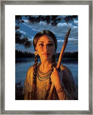 Sacagawea Framed Print