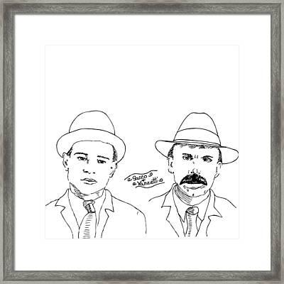 Sacco And Vanzetti Framed Print by Karl Addison