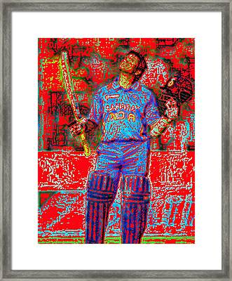 Sachin Tendulkar-100th 100-god Of Criket Framed Print