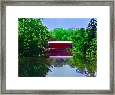 Sachs Covered Bridge - Gettysburg Pa Framed Print by Bill Cannon