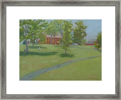 Sackets Harbor Battlefield-high Noon Framed Print