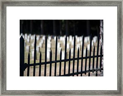 Sackets Harbor Military Cemetery Framed Print by Fred Lassmann