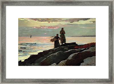 Saco Bay Framed Print by Winslow Homer