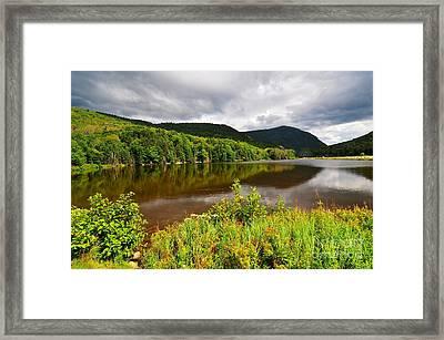 Saco Lake Framed Print by Catherine Reusch Daley