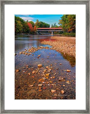 Saco River Bridge 8942 Framed Print by Dan Beauvais